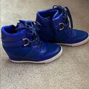 Wedge sneaker boots!